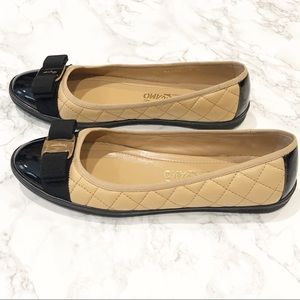 Salvatore Ferragamo Shoes - Salvatore Ferragamo Bow Quilted Flat Sneaker
